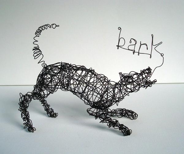 The art of nakisha elsje vanderhoeven for Dog wire art