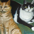 Four Cats -Painting, 2004