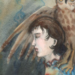 Girl with an Imaginary Owl, 2014